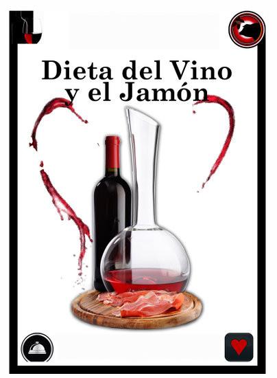 Dieta de jamon y vino