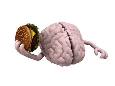 cérebro de junk food