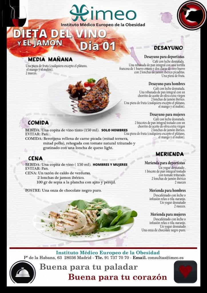 Dieta Vino y Jamon Dia 1