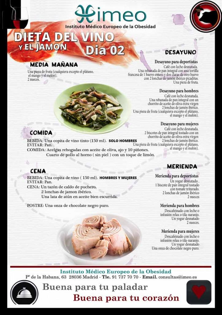 Dieta Vino y Jamon Dia 2