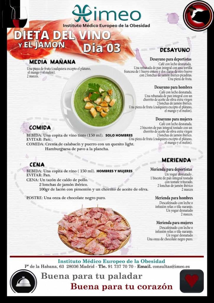 Dieta Vino y Jamon Dia 3