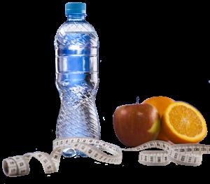 agua y manzana