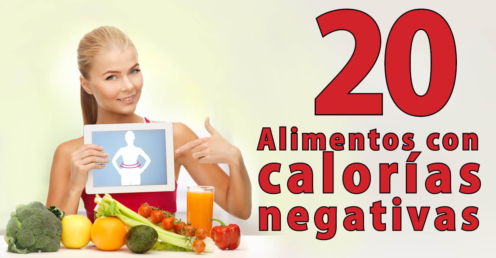 Banner para Articulo Blog y Facebook calorias negativas