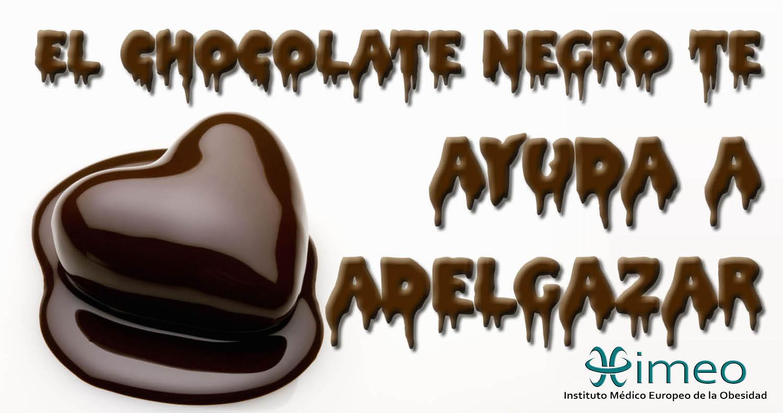 chocolate puro para adelgazar